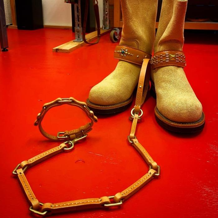 ☆ブーツ☆首輪☆リード☆・・・☆真鍮☆・・・#original #leather #accessories #shoes #boots #engineerboots #dogcollar #dogleash #bracelet #belt #studs #brass #chain #handmade #kagoshima #dog #dogstagram #dogsofinstagram #fashion #motorcycle #rock #ブーツ #エンジニアブーツ #バイカー #ロック #ファッション #スタッズ #犬 #首輪 #鹿児島・・・・・☆今週は日曜日のみの営業になります☆
