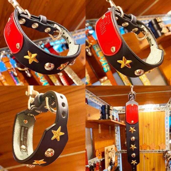 ☆ドッグタグ・カラー☆・・・☆首輪本体・ネイビー☆・☆タグ・レッド☆・☆タグのみの交換も可能ですよ☆・・・☆首輪の幅は、太い部分で30mm・細い部分で12mm☆・☆細い部分を長めなど、お好みでオーダー出来ますよ☆・・・☆今週も本日と明日の営業になります☆・#original #leather #accessories #dogcollar #wristband #studs #star #dogtag #handmade #kagoshima #japan #dog #dogs #dogstagram #instadog #doglover #doglife #bichonfrise #poodle #maltese #犬 #首輪 #スタッズ #星 #迷子札 #ドッグタグ #ビションフリーゼ #プードル #マルチーズ #鹿児島